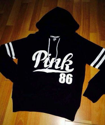 Hoodie Sweatshirt Nice Pink Letter Print and Stripes – Ecolo.luca