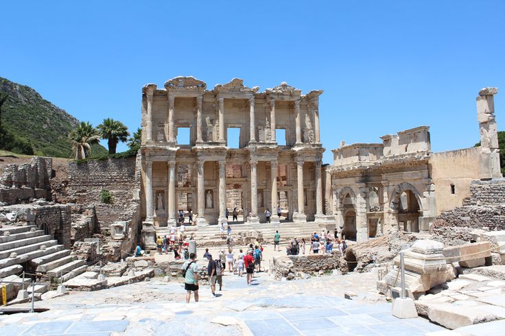 The Celsus Library in Ephesus.  The second largest library in ancient Rome.
