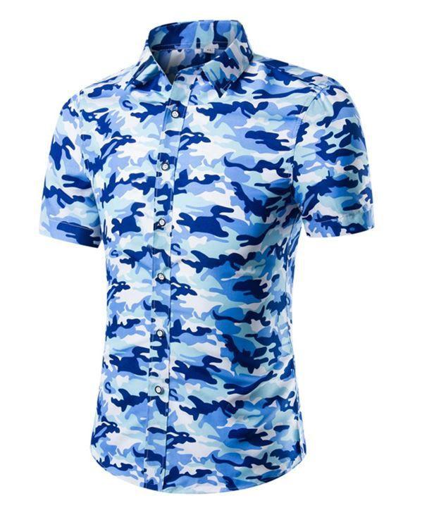 2016 china wholesale shirt cheap woven 100% polyester short sleeve hawaiian shirts men custom print shirt