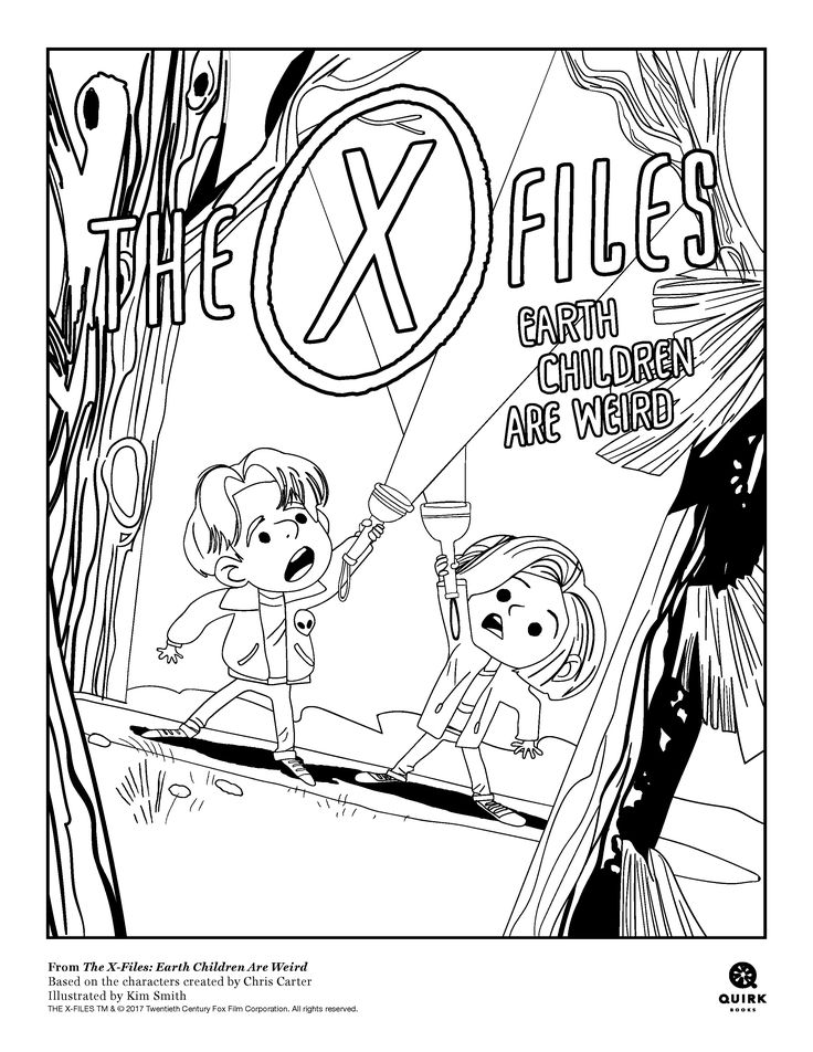 The truth is out there! Get involved in the fun with our The X-Files Children Are Weird coloring sheets!   #xfiles #quirkbooks #bookish #coloring #coloringpages #crafts #kids #popclassics