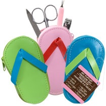 Bulk Flip-Flop Manicure Kits, 4-pc. Sets at DollarTree.com $1 each Great for bridal shower favors.