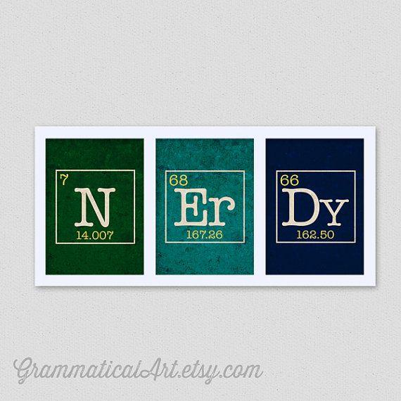 Wissenschaft Wohnheim Dekor Periodensystem Nerdy Set Wissenschaft Chemie Geekery Lehrer Weihnachtsgeschenke für Lehrer N Er Dy schwarz Freitag