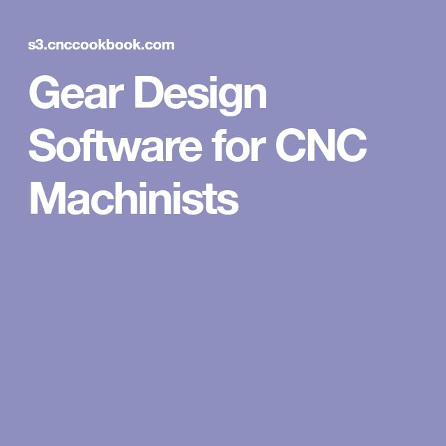 Gear Design Software for CNC Machinists