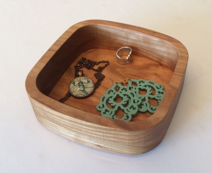 A personal favorite from my Etsy shop https://www.etsy.com/ca/listing/271243736/wooden-bowl-change-bowl-jewelry-bowl-and