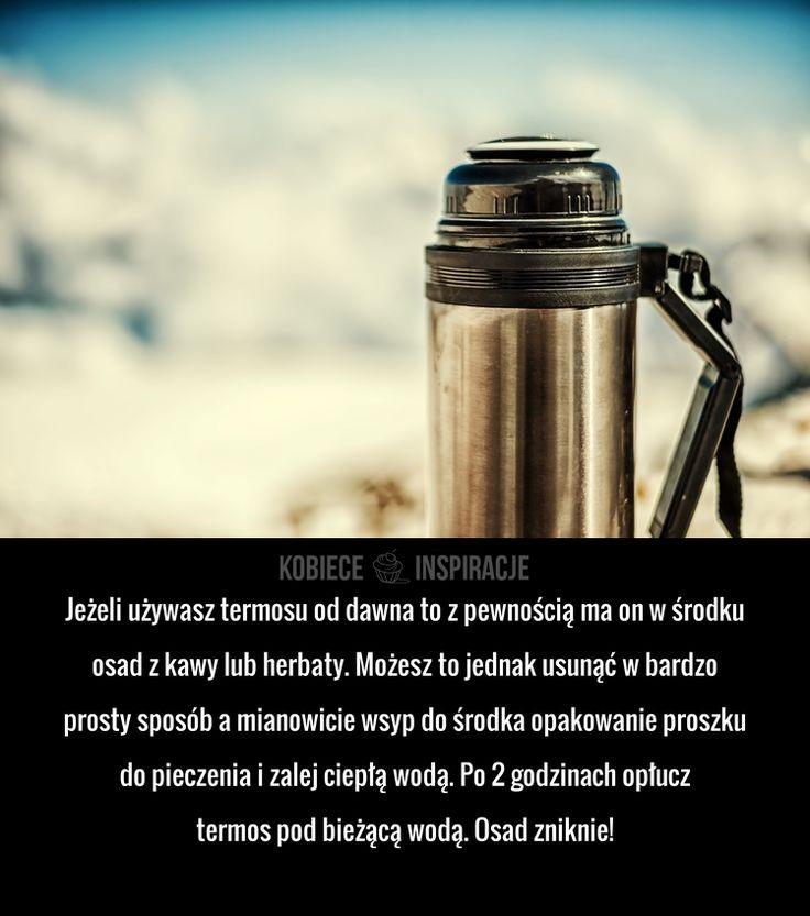 Jeżeli używasz termosu od dawna to z pewnością ma on w środku osad z kawy lub herbaty. Możesz to jednak ...