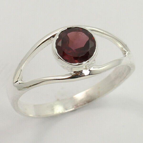 Red Garnet Gemstone 925 Sterling Silver Jewelry Handmade Ring Choose Size Us