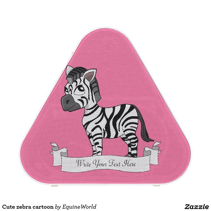 Cute zebra cartoon bluetooth speaker