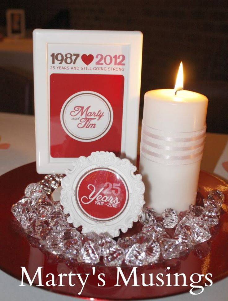 25th wedding anniversary decorations by marty 39 s musings for 25 year anniversary decoration ideas