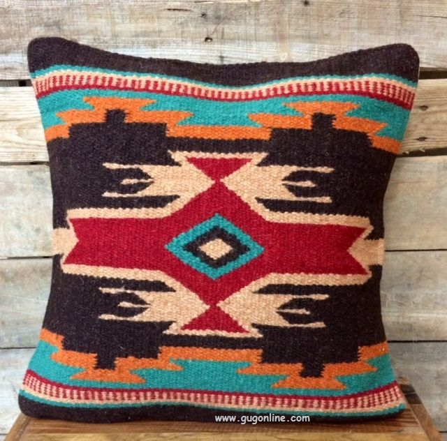 Pueblo Palace Southwest Wool Accent Pillow www.gugonline.com Price:$22.95 Use discount code GUGRepKPieper at checkout!
