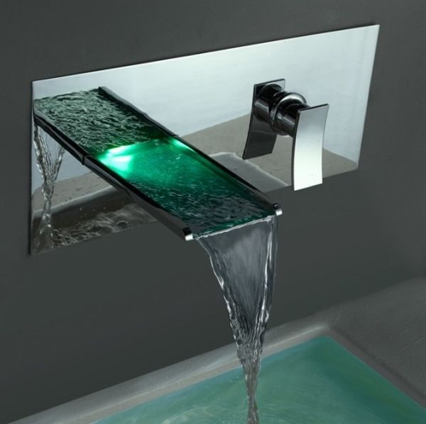 Buy (EU Lager)LED Wasserhahn Wandmontage with Lowest Price and Top Service!