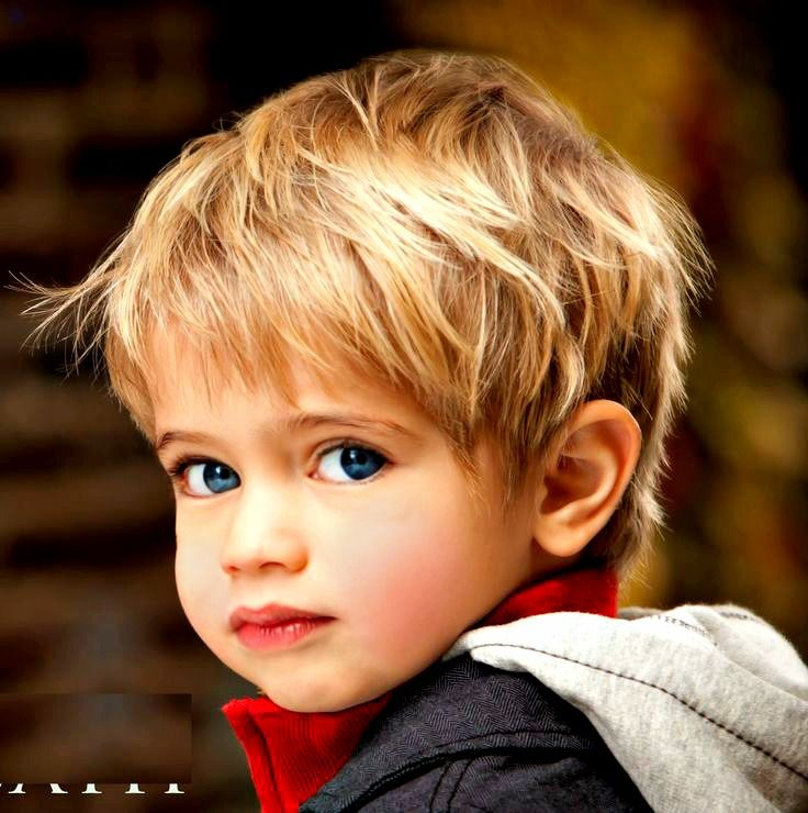 Long style toddler! Straight hair. For boys with straight hair and want to keep it longer, adding layers and texture can give a flat straight hair shape and style.