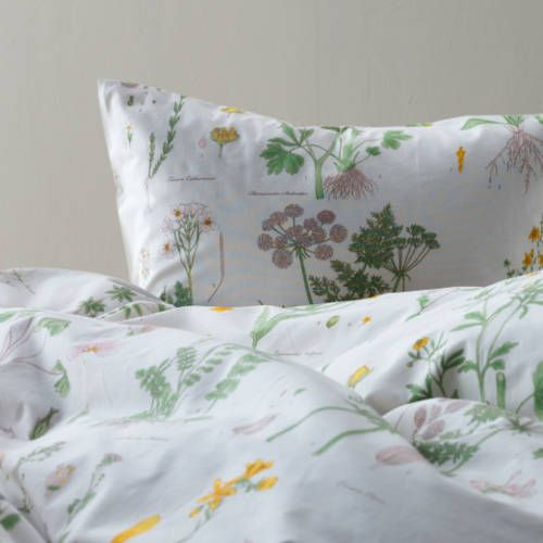 ikea strandkrypa duvet comforter cover set white floral twin queen king new ebay. Black Bedroom Furniture Sets. Home Design Ideas