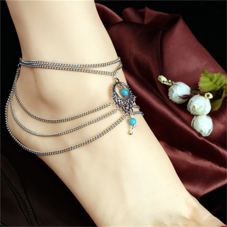 1PC Sizzling Summer season Ankle Bracelet Bohemian Foot Jewellery Turquoise Turquoise Anklets for Ladies 3K3012 - Silver Jewellery 925 - SHOP NOW