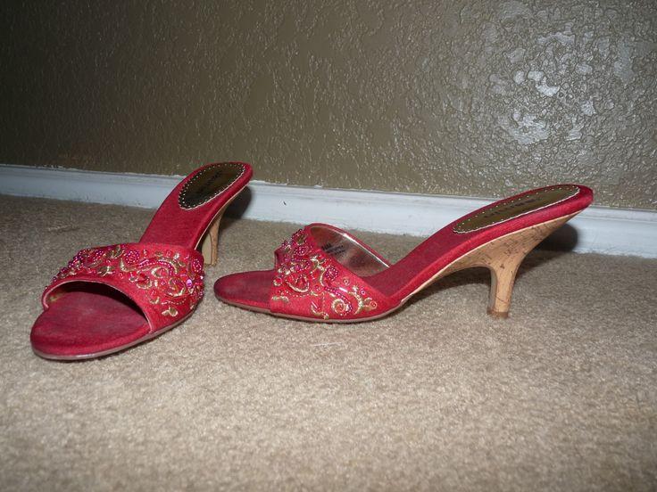 Jasmin heels red size 85 in mommanays garage sale in