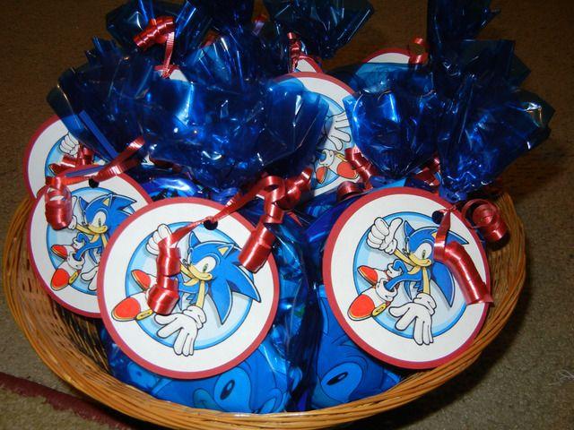 Sonic birthday treat bags