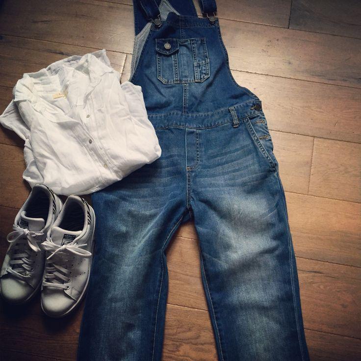 Salopette et chemise bash