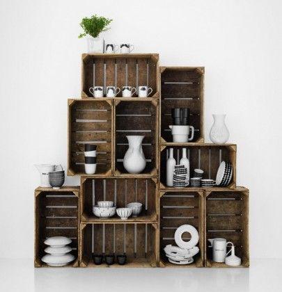 materiais reciclados garantem a arrumação de diferentes objetos
