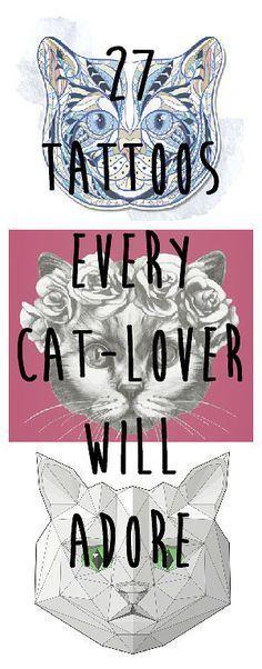 2017 trend Geometric Tattoo - 27 Classy Cat Tattoos Every Cat-Lover Will Adore...