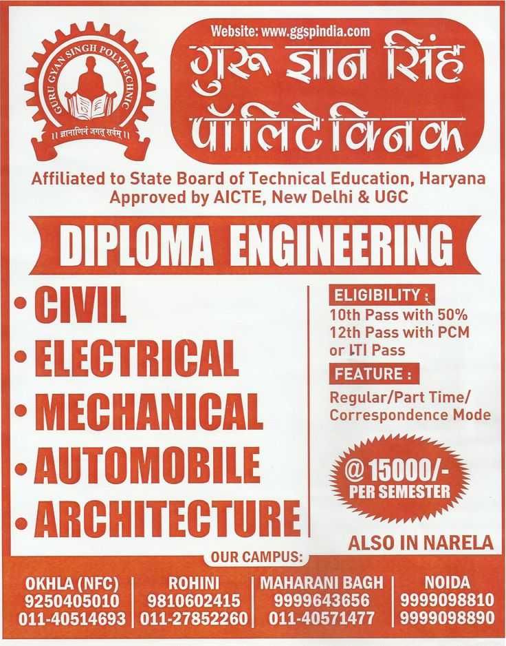 GGSP India Engineering College offers a 3 yrs Polytechnic Diploma in the field of Automobile Engineering, Architecture Engineering, Electronics & Communication Engineering, Civil Engineering and Mechanical Engineering in Delhi NCR.!!  #GGSPIndia  #Diploma  #Polytechnic  #Engineering