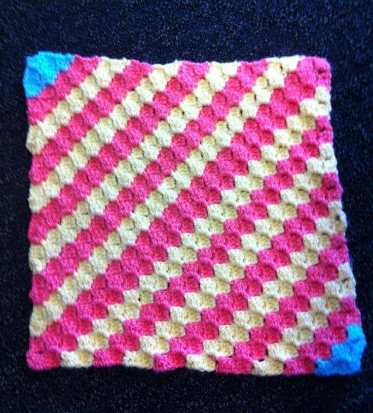 Corner To Corner C2c Crocheted Lovey Blanket My