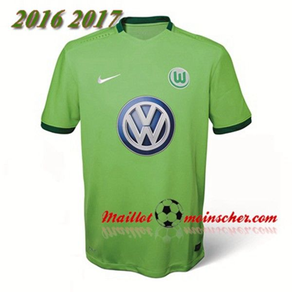 Les Nouveaux Maillot VfL Wolfsbourg Domicile Vert 2016 2017: fr-moinscher