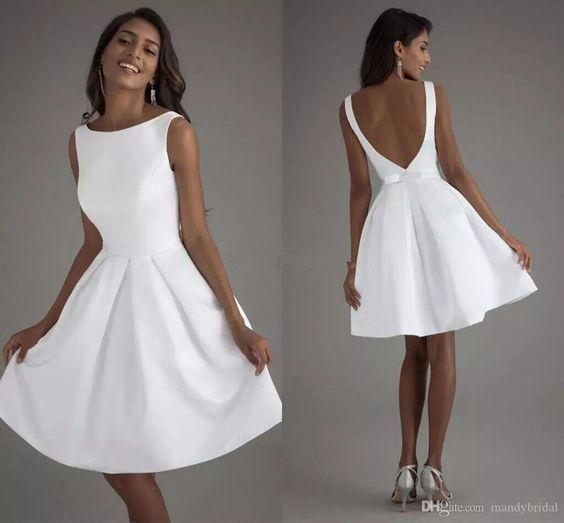 """Cortos vestidos de novia"" ~~ Rosario Contreras ~~   – Beautiful Dresses – #Beau…"