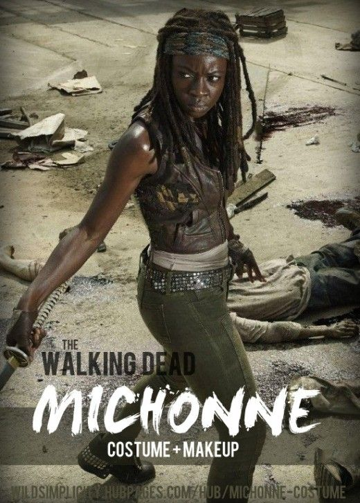 Michonne Walking Dead Costume and Makeup
