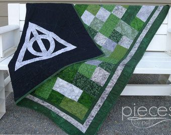 Harry Potter Inspired Hogwarts House Quilt by PiecesByPolly