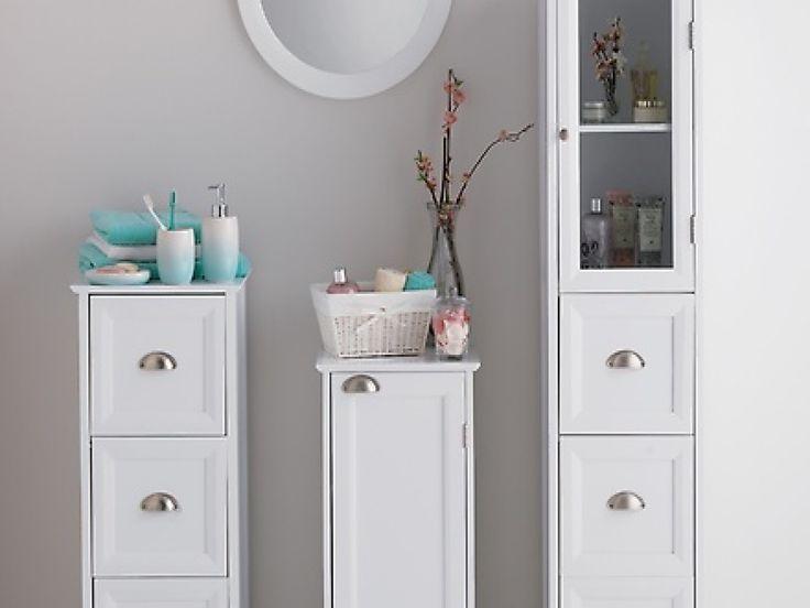 Slimline Bathroom Cabinet Freestanding
