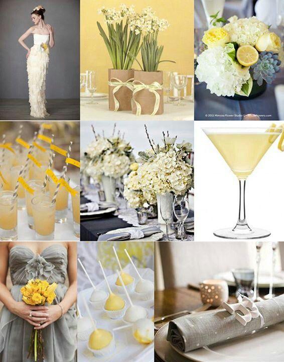 12 best wedding decor images on pinterest wedding ideas decor lemon grey themed wedding from benessamy junglespirit Images
