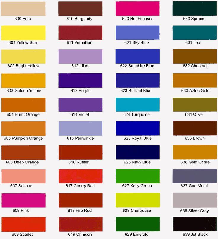jacquard acid dye chart