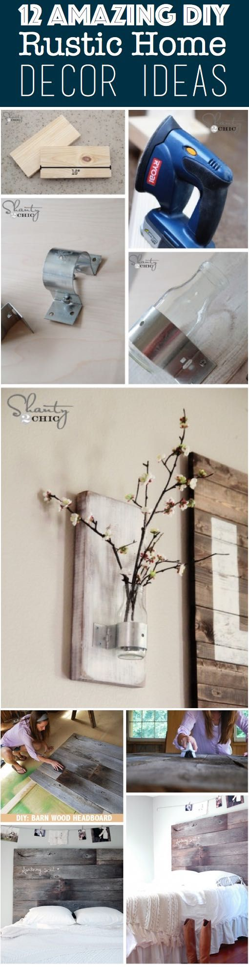 12 Amazing DIY Rustic Home Decor Ideas: