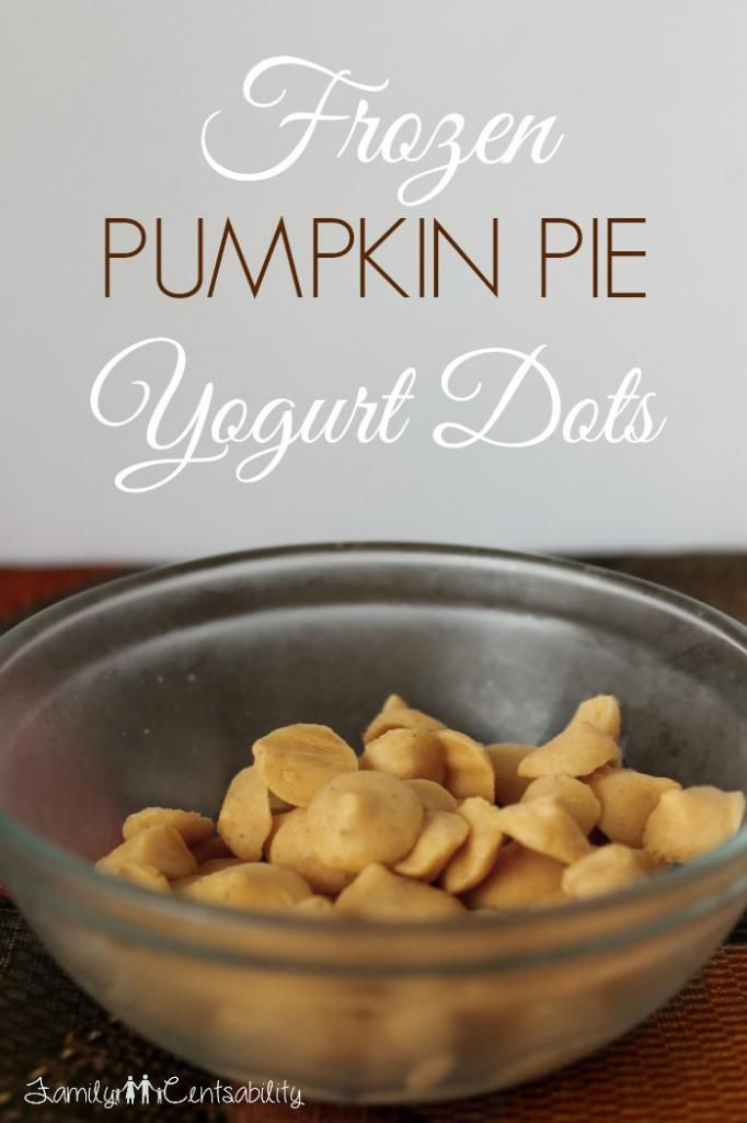 Family Centsability: Frozen Pumpkin Pie Yogurt Dots Recipe (kids love them!)