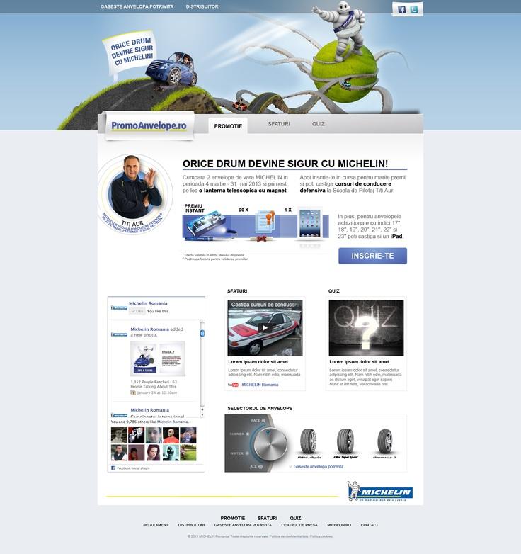 Campaign Microsite's Homepage