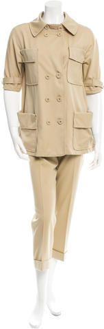 Bottega Veneta Short Sleeve Pantsuit