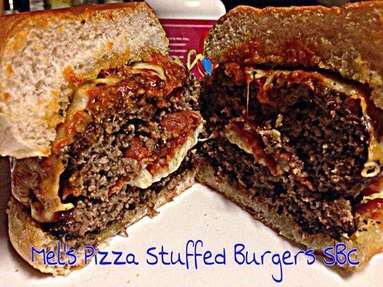 stuffed burger recipes pizza stuffed stuffed burgers mel s pizza ...