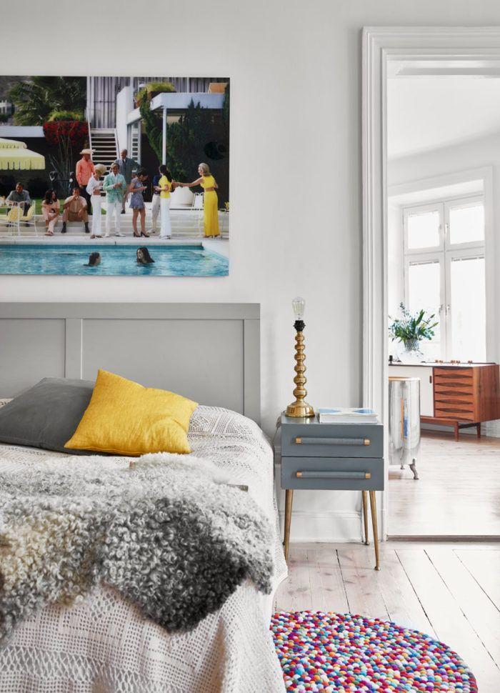Sobert och färgglatt i Vasastan u2013 med ett helt fantastiskt kök ELLE Decoration Bedrooms