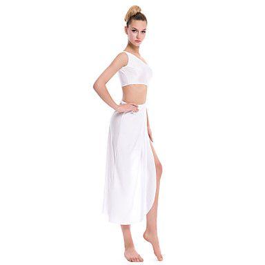 Ρούχα+για+Κλαμπ+-+Φορέματα+-+Γυναικεία+(+Μαύρο/Λευκό+,+Σπαντέξ/Πολυεστέρας+–+USD+$+24.99