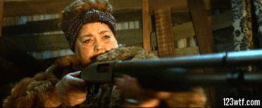Aunt Dorothy shoots up #Krampus #movie #horror (WTF Watch The Film) https://123wtf.me/2016/03/28/wtf-krampus-2015/