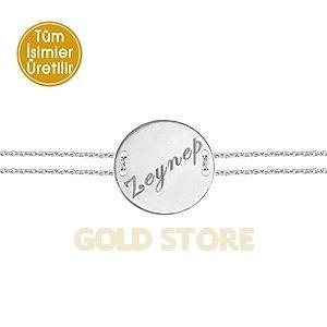 14 Ayar Altın Madalyon İsim Bileklik PNJNB23750
