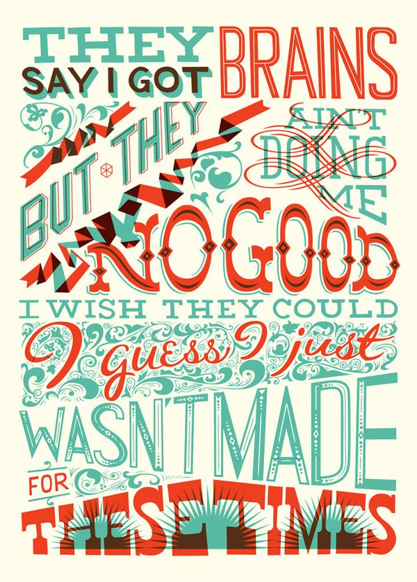 Hand lettering by Spencer Charles.