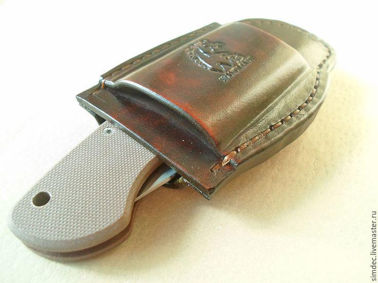 Купить Чехол для SPYDERCO MILITARY - коричневый, spyderco military, складной нож, чехол для ножа