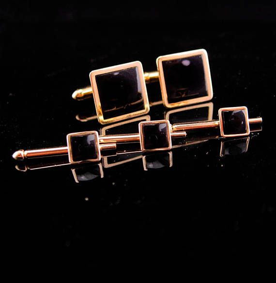This vintage cufflink set will be great for a wedding, tuxedo or a black tie event. Sometimes a personal well thought out gift shows you took the time to care about that special person in your life. Our items are classic, sometimes unusual and vintage and sometimes a little bizarre. Whether it is a memory from their past or something that reminds you of how special they are, purchasing from us is a unique idea that you can't get from a store every day. Just say the word and we will wrap it…