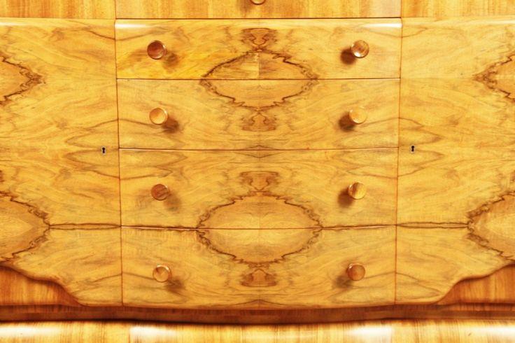 Superb Art Deco Walnut Sideboard | 351645 | Sellingantiques.co.uk