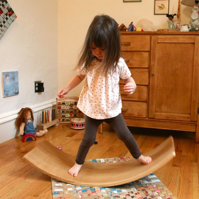 Solid Wood Rocker Board Wooden Balance Board - Elephant Playthings