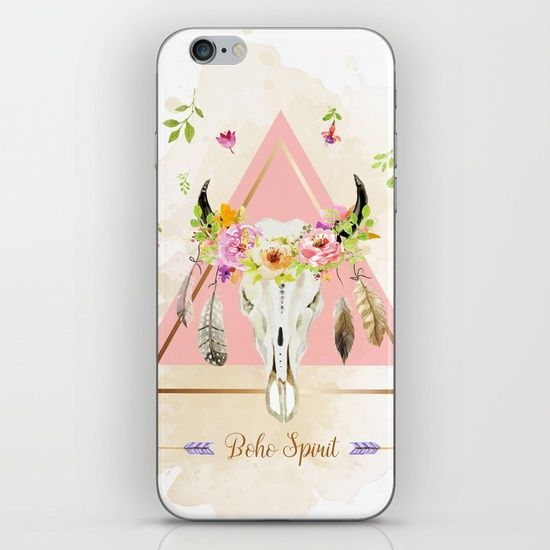 #case #coque #smartphone #mode #ethnic #boho #skull #girl