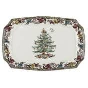 Spode 1519312 Christmas Tree Grove Rectangular Platter Start your Spode collection this year. Every year you add a little something to your starter set. Start a tradition. http://theceramicchefknives.com/ceramic-tea-pots-christmas-theme-tea-pots/