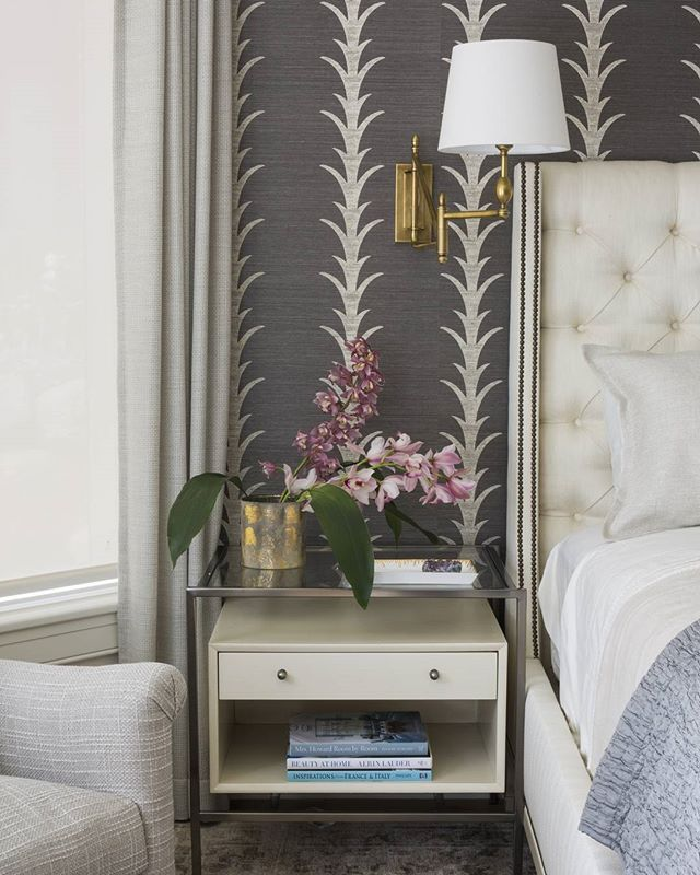 Acanthus Stripe grasscloth wallcovering by celerie - Schumacher