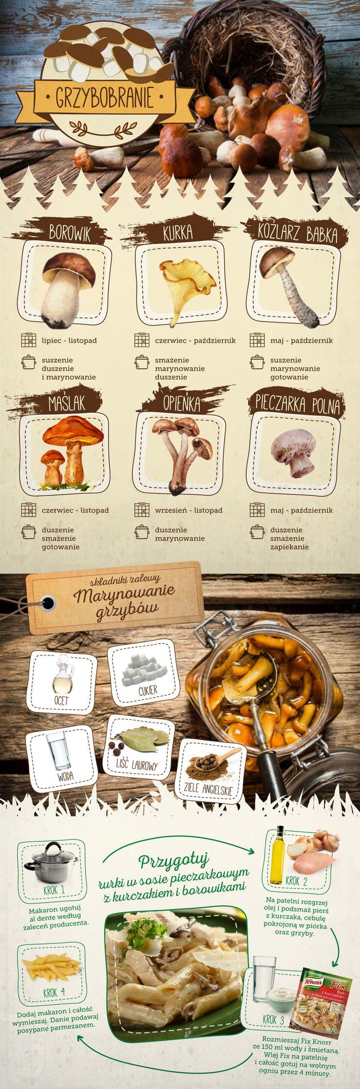 Sprawdź, jak przygotować różne rodzaje grzybów oraz do jakich dań je wykorzystać.