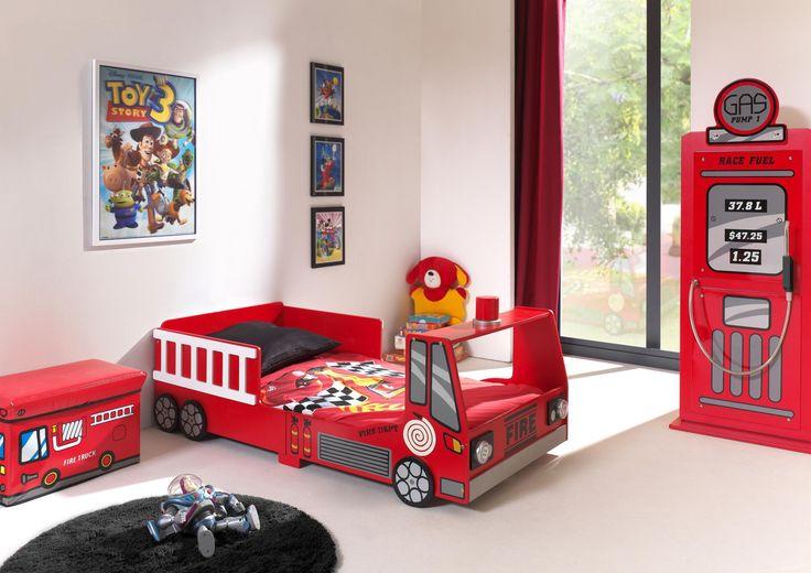 Lit enfant camion de pompier Heroes - Lit voiture moins cher - MATELPRO